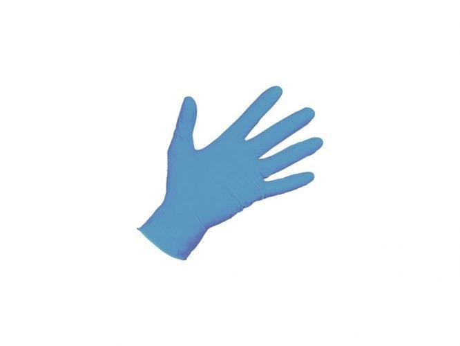 blauw nitril handschoenen